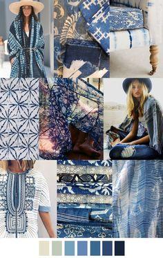 2017 pattern & colors trends: BOHO BLUES