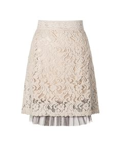 #Lace #skirt with tulle underlay at bottom hem and zipper at back