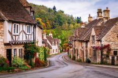Castle Combe is a village and civil parish in Wiltshire, England. It is one of the most beautiful villages in the Cotswold and has been called 'The Prettiest Village In England. English Villages, Cotswold Villages, English Cottages, Country Cottages, Castle Combe, British Countryside, Countryside Village, Medieval Town, British Isles