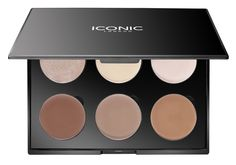 The Cream Contour Palette has six shades to sculpt and highlight the face; 1 x Shimmer 2 x Highlight 3 x Sculpt Application;  Use one shade darker than your skin tone to create 'shadow' in the hollows of the cheekbones, temples and hairline Next, run the darkest shade along the jawline and blend to avoid harsh line Use a highlighting shade on the top of the cheekbones, cupids bow and brow bone Apply shimmerto cheekbones to finish