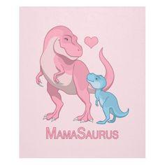 MamaSaurus T-Rex and Baby Boy Dinosaurs Fleece Blanket - birthday gifts party celebration custom gift ideas diy Dinosaur Drawing, Dinosaur Art, Cute Dinosaur, T Rex Tattoo, Tattoo For Son, Carters Baby, Baby Boys, Fleece Blanket Diy, Baby Dinosaurs