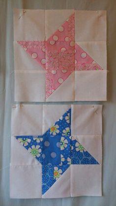 First 2 friendship star quilt blocks finished!