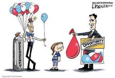 Which balloon would you pick? Me, I'd take Mitt's and fill it with water and throw it at the guy with big ears! :D