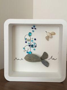 Pebble art #stonepainting #kendinyap #whale #sea #blue