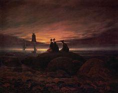 Moon Rising over the Sea by Casper David Friedrich