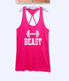 Beast fitness workout tank top with print -666 SALE 20 %