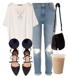 Untitled #4274 by laurenmboot on Polyvore featuring polyvore, мода, style, Zara, River Island, H&M, Nomadic and The Row