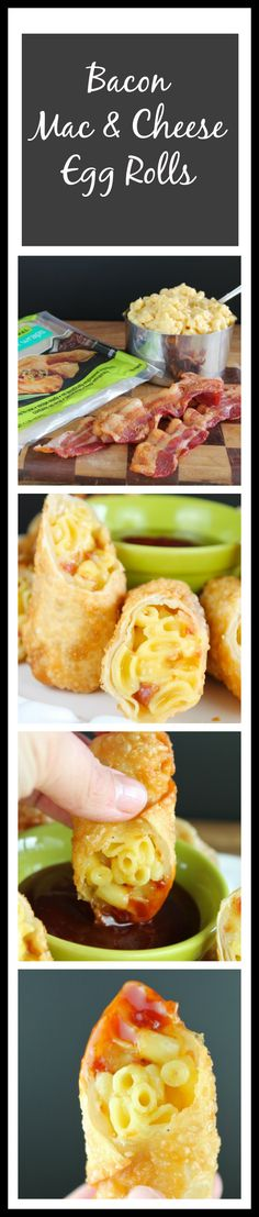 Bacon Mac & Cheese Egg Rolls Miss in the Kitchen