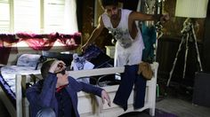 Behind the scene - Codrin Roibu and What's Up / Marius Ivancea Behind The Scenes, Tote Bag, Coat, Jackets, Bags, Fashion, Down Jackets, Handbags, Moda