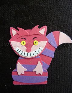Alice in Wonderland Cheshire Cat from Fox Builder Punch Kids Scrapbook, Scrapbooking, Foxy Friends Punch, Create An Animal, Punch Art Cards, Nifty Crafts, Owl Card, Craft Punches, Owl Punch