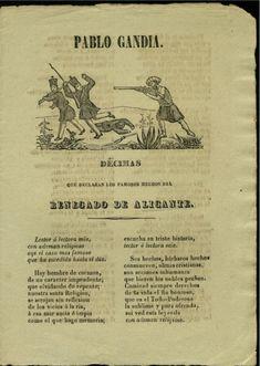 Pablo Gandia, décimas que declaran los famosos hechos del renegado de Alicante.