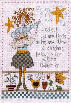 Cross Stitch Collector by Imaginating attern $4.49 on 123 Stitch at http://123stitch.com/item/Imaginating-Cross-Stitch-Collector/02-1709