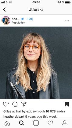 Hairstyles with Bangs and Glasses 42175 Long with Bangs and Glasses Bangs And Glasses, Hairstyles With Glasses, Face Shape Hairstyles, Messy Hairstyles, Pretty Hairstyles, Makeup With Glasses, Short Hair Glasses, Celebrity Hairstyles, Long Hair Cuts