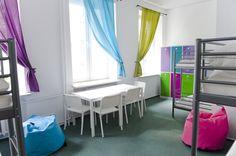 6 poeple dorm at Patchwork Hostel. Warsaw, Poland.