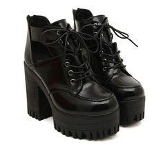 Heel Height: 11cm  Platform: 4.5cm   Material : PU
