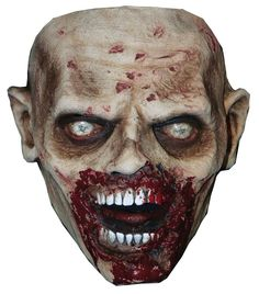 Look just like your favorite zombie from the award-winning TV show The Walking Dead. Latex face mask. One size fits most adults.