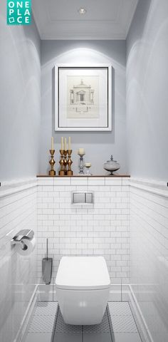 nice half bath or toilet room design