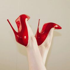 I have 1000 outfits I can wear these hot sexy red heels Stilettos, Red Stiletto Heels, Red Heels, Pumps, Sexy Legs And Heels, Hot High Heels, Womens High Heels, Lingerie Heels, Nylons Heels