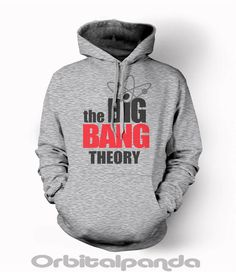 Grey Hoodie with The Big Bang Theory Logo -sheldon cooper