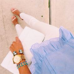 White and blue