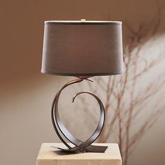 Hubbardton Forge 272674 Fullered Impressions Table Lamp w/ Opposed Curves, Small