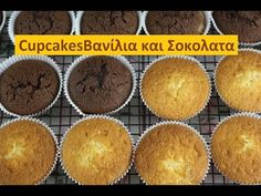 Cupcakes Βανίλια και Σοκολατα - YouTube Muffins, Sweets, Candy, Breakfast, Lollipops, Food, Youtube, Morning Coffee, Tootsie Pops