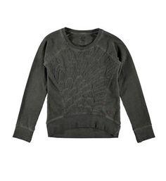 Retour sweater model Pleuni. Deze trui is voorzien van een doorgestikte voorzijde - Grijs - NummerZestien.eu