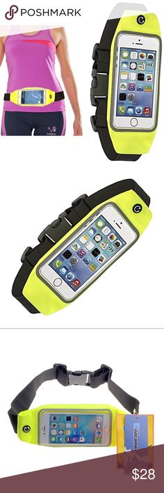 """iPhone 8 7 6 Active Waistband w Reflective Strip Pro Running Waist belt Fanny Pack Lycra Material with Clear Screen Window Cycling Gym Running Compatible with wide variety of phones: iPhone 6,6S SE 5,5S 5C 4S Galaxy S7 S6 S5 S4 S3 Lightweight & comfy For all phone models size up to 4.7"""" 2 separate compartments  Reflective strip for high visibility on your run  Rain proof Sweat proof Water Resistant Lycra  Expandable to fit waist sizes from 25 inch to 40 inch Enough space to carry all your…"""