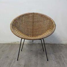 Vintage rattan chair. 1950 – 1955.