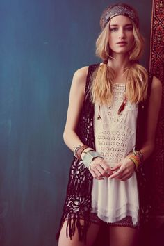 "Hippy chic lookbook. Linda Vojtova for Free People ""Festival Fashion"" Lookbook by Ana Palma."