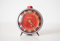 Vintage soviet mechanical alarm clock Jantar  by CuteOldThings