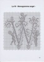 Gallery.ru / Фото #24 - Monogrammes Angels - Afortyna Crochet Letters, Filet Crochet, Hobbies And Crafts, Yandex Disk, Views Album, Cross Stitching, Macrame, Cross Stitch Embroidery, Angels
