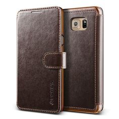 VRS Layered Dandy Galaxy Note 5 Wallet Case - Coffee Brown