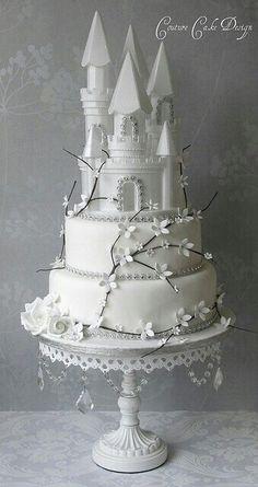 #wedding #outside #snow #white #decorations #themes #princess #ideas #diy #cakes