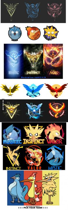 ^_^ I may be Mystic but you gotta love Instinct and Valor - they all look so cool! Instinct looks amazing in the third row.