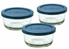 Anchor Hocking Classic Glass Food Storage Containers with Lids, Blue, 2 Cup (Set of Baked Oats Slimming World, Slimming World Desserts, Slimming World Diet, Slimming Eats, Slimming World Overnight Oats, Glass Food Storage, Food Storage Containers, Handout, Safe Glass