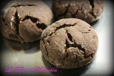 Galletas de chocolate cubiertas de azúcar glas (o nueces, chocolate de cobertura...)