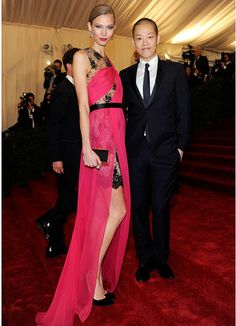 Karlie Kloss in Jason Wu with the designer