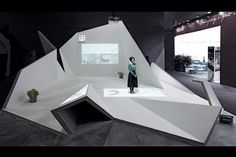 Cross is a pavilion that was designed for the 2014 Guangzhou International Design Week, an exhibition space at the Poly World Trade Expo in Guangzhou, China. The appearance of the exhibition resembles the many folded papers accompanying any design process. Just like these folded draft papers, the exhibition platform is an open space of irregularity and limitlessness. On the platform, the tourism routine and functional space are effectively organised. Multimedia projections on the wall and…