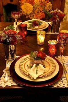 Beautiful Traditional Christmas Tablescape | #christmas #xmas #holiday…