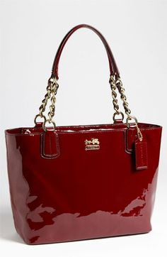 COACH 'Madison' Patent Leather Tote available at #Nordstrom