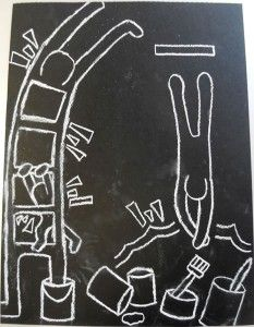 Keith Haring site.  Fun games and lessons. go to http://www.haringkids.com/master_k_bio.htm art-flipbooks for movement video