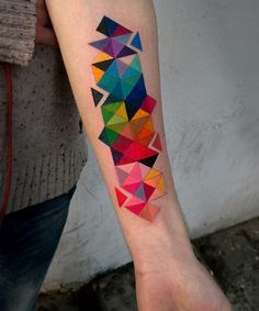 Beautiful Color Pattern Sleeve Tattoo Designs