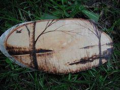 Lake Scenery Wood Burning by WhalenArtworks on Etsy, $35.00: