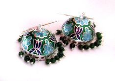 Silver Jhumkas Etsy Fine 925 Sterling Silver  by taneesijewelry, $124.99