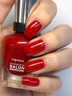 "Sally Hansen Complete Salon Manicure Nail  ""Red My Lips"""