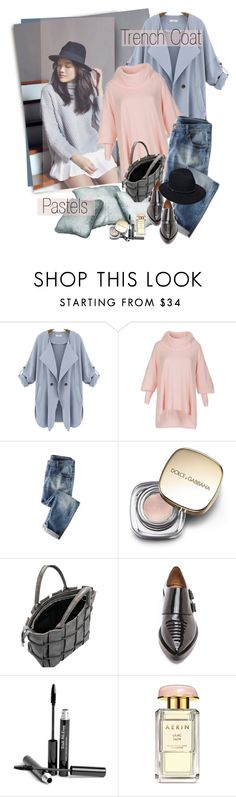 """Pastel Trench Coat***"" by ksenia-lo ❤ liked on Polyvore featuring Wrap, Dolce&Gabbana, 3.1 Phillip Lim, Trish McEvoy, AERIN, rag & bone, women's clothing, women's fashion, women and female"
