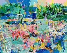 Bethesda Fountain-Central Park | LeRoy Neiman #leroyneiman