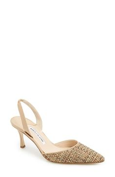 Manolo Blahnik 'Carolyne' Pointy Toe Slingback Pump (Women) available at #Nordstrom