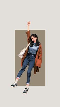 Cute Girl Drawing, Cartoon Girl Drawing, Girl Cartoon, Cartoon Art, Character Illustration, Illustration Art, Chica Gato Neko Anime, Girly Drawings, Cute Girl Wallpaper